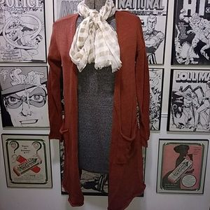 Knitted Open Style Cardigan Sweater